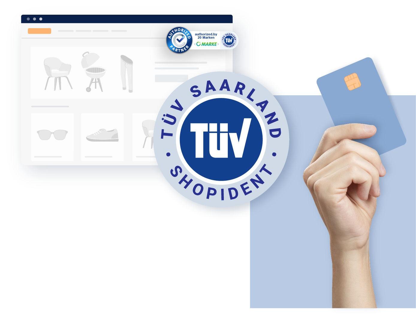 Identitätsprüfung im eCommerce mit authorized.by® und TÜV-ShopIdent