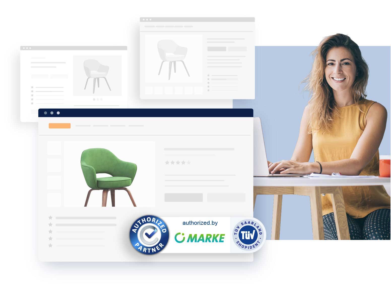 Vertrauen im eCommerce mit Echtzeit-Siegel und TÜV-ShopIdent authorized.by®